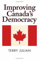 Improving Canada's Democracy