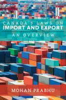 Canada's Laws on Import and Export