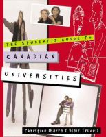 The Student's Guide to Canadian Universities