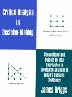 Critical Analysis in Decision-making