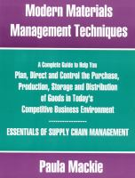 Modern Materials Management Techniques
