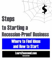 Steps to Starting A Recession-proof Business