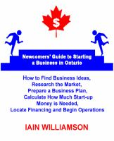 Newcomer's Guide to Starting A Business in Ontario