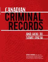 Canadian Criminal Records