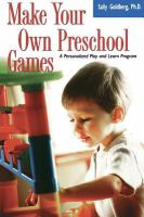 Make your Own Preschool Games