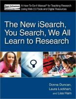 The New ISearch, You Search, We All Learn to Research