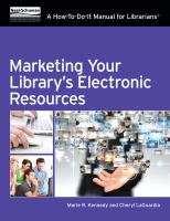 Marketing your Library's Electronic Resources