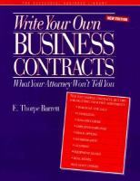 Write your Own Business Contracts