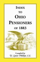 Index to Ohio Pensioners of 1883