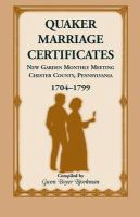 Quaker Marriage Certificates