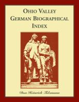 Ohio Valley German Biographical Index