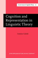 Cognition and Representation in Linguistic Theory