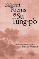 Selected Poems of Su Tung-po