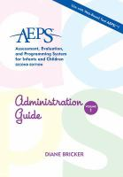AEPS Assessment, Evaluation, and Programming System for Infants and Children