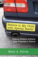 Believe in My Child With Special Needs!