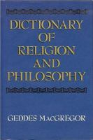 Dictionary of Religion and Philosophy