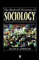 The Blackwell Dictionary of Sociology