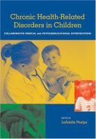 Health-related Disorders in Children and Adolescents