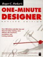 Roger C. Parker's One Minute Designer