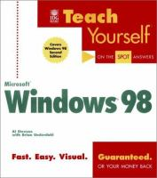Teach Yourself Microsoft Windows 98