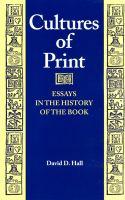Cultures of Print