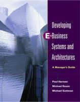 Developing E-business Systems & Architectures