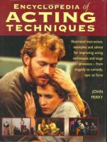 Encyclopedia of Acting Techniques