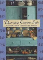 Decorating Country Style