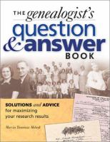 The Genealogist's Question & Answer Book