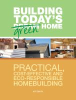 Building Today's Green Home