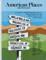 American Places Dictionary