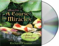 Selections From A Course in Miracles (CD)
