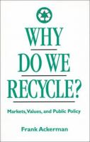 Why Do We Recycle