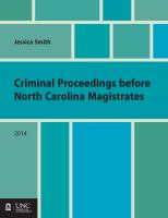 Criminal Proceedings Before North Carolina Magistrates