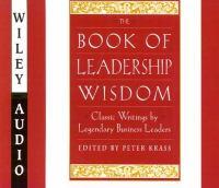 The Book of Leadership Wisdom
