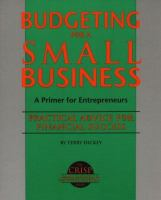 Budgeting for A Small Business