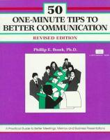 50 One-minute Tips for Better Communication--revised