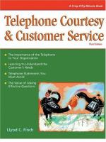 Telephone Courtesy & Customer Service