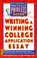 Writing A Winning College Application Essay
