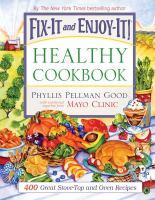 Fix-it and Enjoy-it! Healthy Cookbook