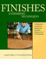 Finishes & Finishing Techniques