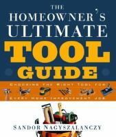 The Homeowner's Ultimate Tool Guide