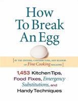 How to Break An Egg
