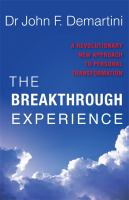 The Breakthrough Experience