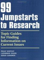 99 Jumpstarts to Research