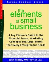 The Elements of Small Business