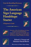 The American Sign Language Handshape Starter