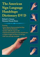 The American Sign Language Handshape Dictionary DVD