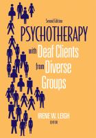 Psychotherapy With Deaf Clients From Diverse Groups