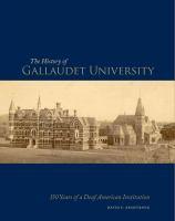 The History of Gallaudet University